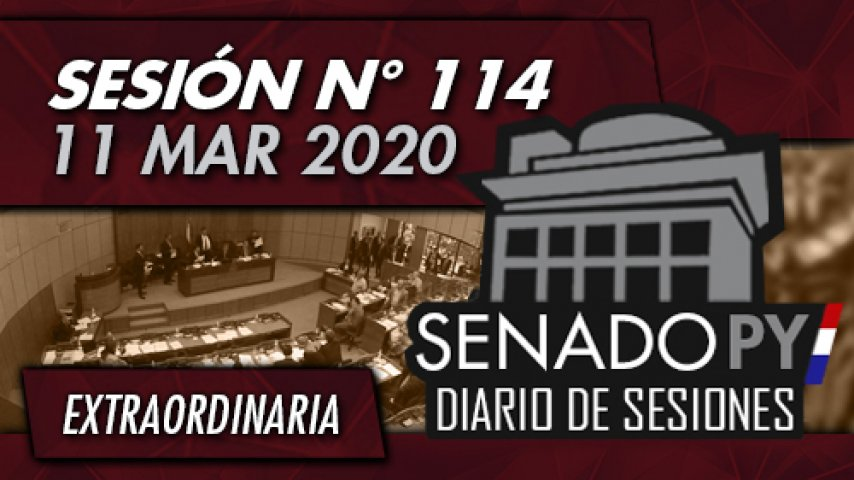 11 MAR 2020 - SE N° 114