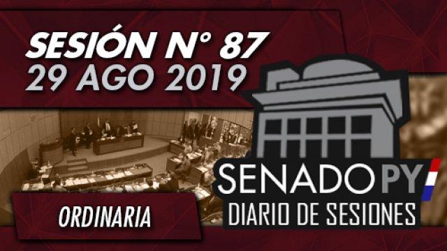 29 AGO 2019 | SO N° 87