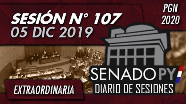 05 DIC 2019 | SE N° 107 - PGN2020