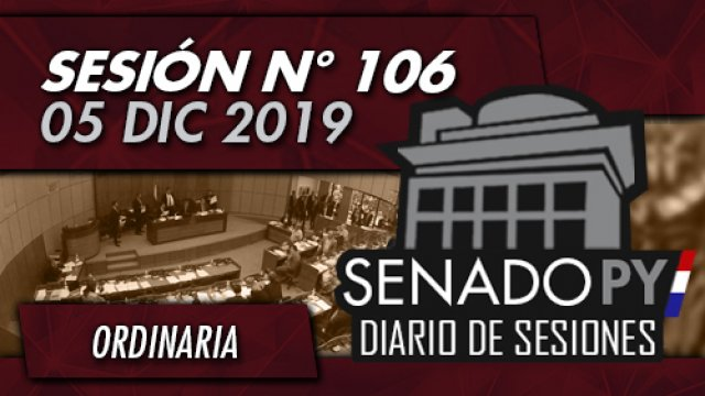 05 DIC 2019 | SO N° 106