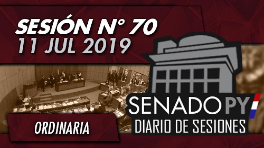 11 JUL 2019   SO N° 70
