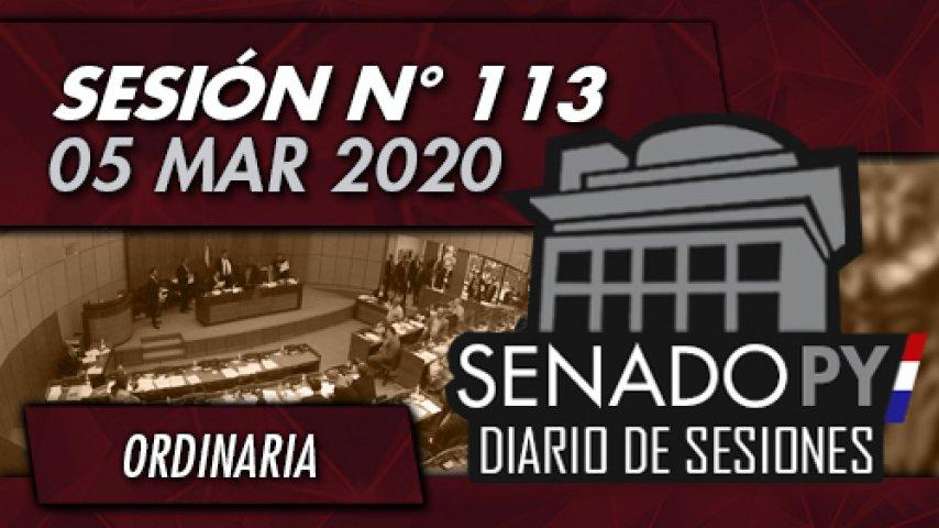 05 MAR 2020 - SO N° 113
