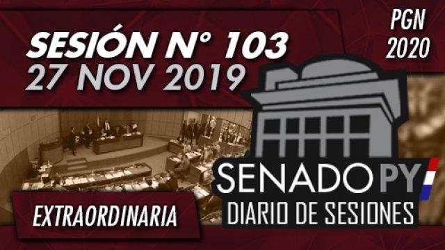 27 NOV 2019 | SE N° 103 - PGN 2020