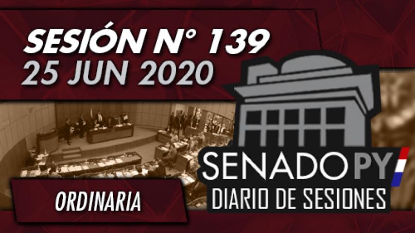 25 JUN 2020 - SO N° 139