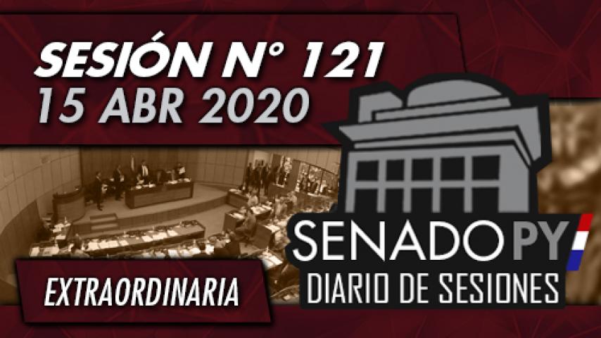 15 ABR 2020 - SE N° 121