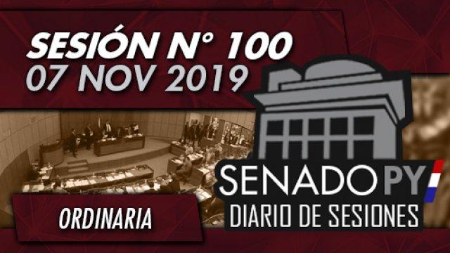 07 NOV 2019 | SO N° 100